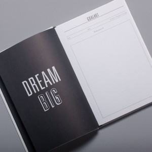 "open book that reads ""Dream Big"""