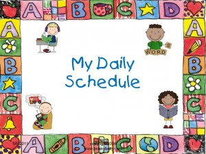 "a child's whiteboard that says ""My Daily Schedule"""