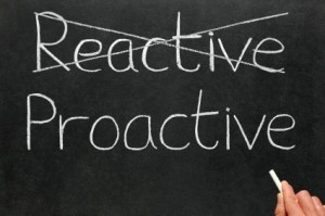 chalk board that says Proactive