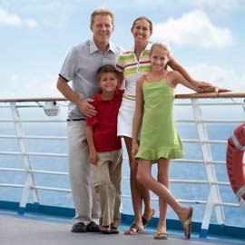 family on a cruise ship