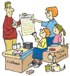 cartoon of family preparing to meet